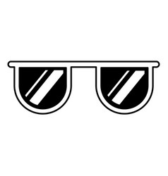 eye glasses isolated icon vector image vector image