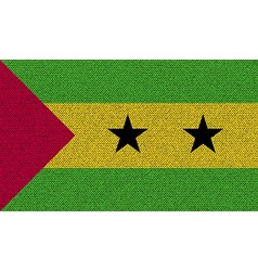 Flags sao tome principe on denim texture vector
