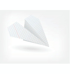folded paper plane vector image vector image