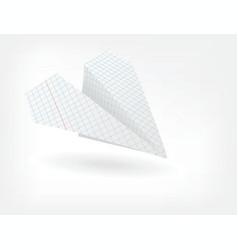 folded paper plane vector image
