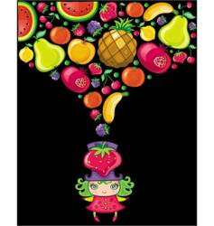 fruity girl vector image vector image