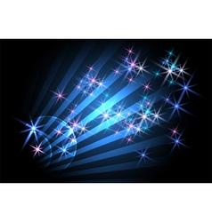 glowing rays vector image