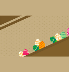 Greeting card of easter theme backgrounds vector