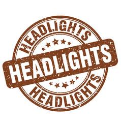 Headlights brown grunge stamp vector