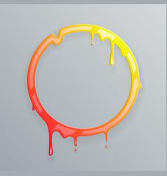 Hot colors melting frame 3d flowing art flux vector
