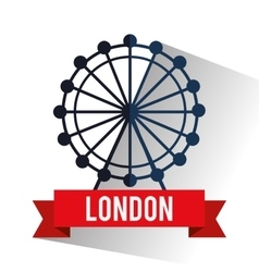 Isolated london eye design vector image