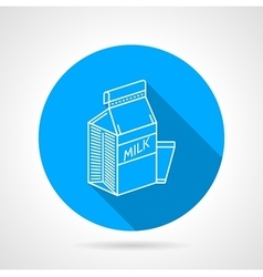 Line icon for milk pack vector