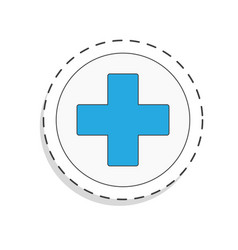Medicine flat icon for design cross world blood vector