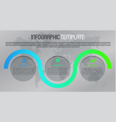 modern infographics with colorful line and circle vector image