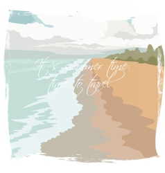 Postcard summer beach background vector