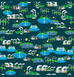Seamless pattern alternative energy green power vector