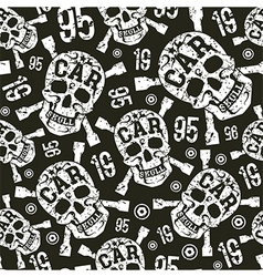 Seamless pattern with image of skull vector