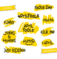 set of thematic brush lettering vector image vector image