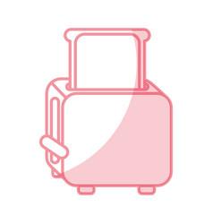 Shadow bread toaster graphic design vector