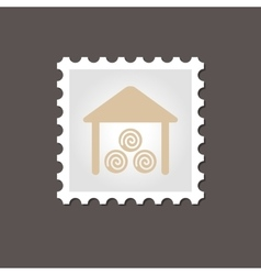 Shed stamp outline vector