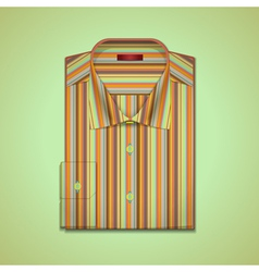 shirt in colorful stripes vector image