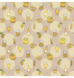 Simple beer seamless pattern Doodle style vector image