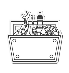 Tool kit box instrument design vector