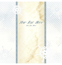 wintry victorian banner vector image vector image