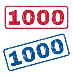 1000 Rubber Stamps vector image vector image