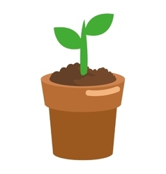 Tree sprout icon vector