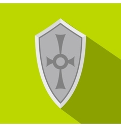 Shield icon flat style vector