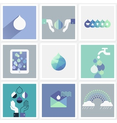 Drops of water - Set of design elements vector image