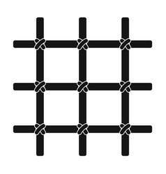 Lattice in the cell of the prisoner a metal door vector