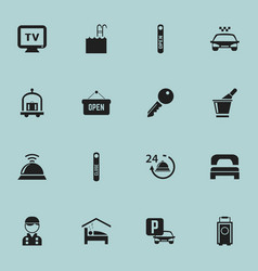 set of 16 editable icons includes symbols such a vector image