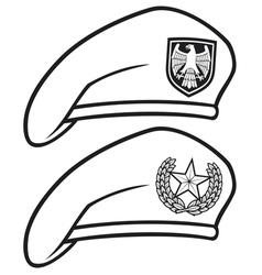 Military beret vector