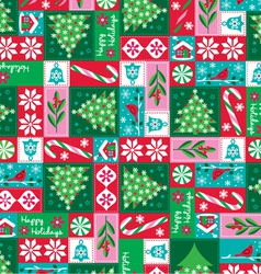 Holiday patchwork vector