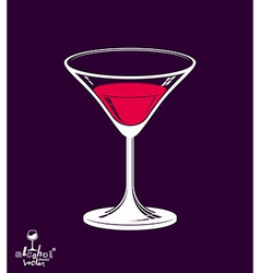 Realistic 3d martini glass vector