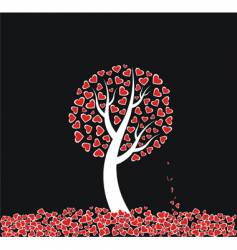 love tree with dead leaves vector image