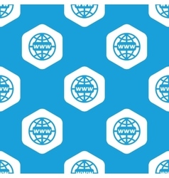 Global network hexagon pattern vector