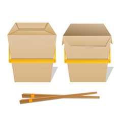 Noodle boxes vector