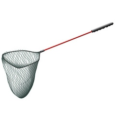 Single fishing net on white vector