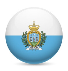 Round glossy icon of san marino vector
