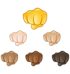 Fisted hand sign emoji vector
