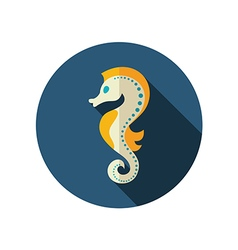 Sea horse flat icon summer vacation vector