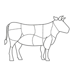 Cow meat isolated icon design vector