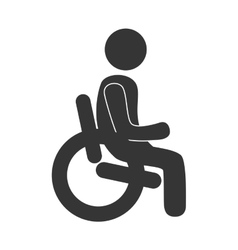 Handicap symbol in black and white colors vector