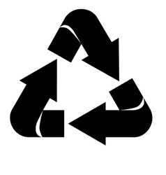 Arrows recycle symbol silhouette isolated icon vector