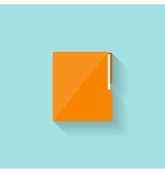 Folder with papers in a flat style vector image