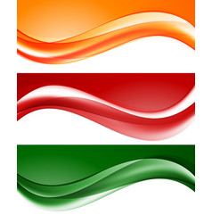 abstract light wavy lines set vector image vector image