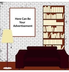 Advertising interior office vector
