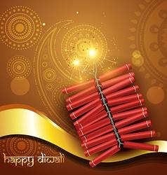 Artistic diwali crackers vector