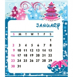 calendar january vector image vector image