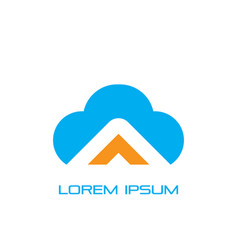 cloud business logo image vector image vector image