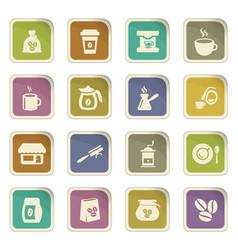 Coffee icons set vector