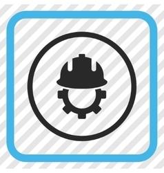 Development helmet icon in a frame vector